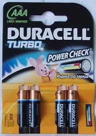 Батарейки Duracell Turbo Max ААА LR03/MX 2400 (4 шт.)
